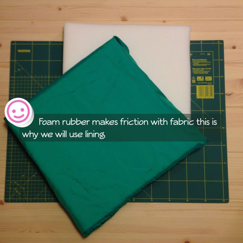 Use lining with Foam rubber