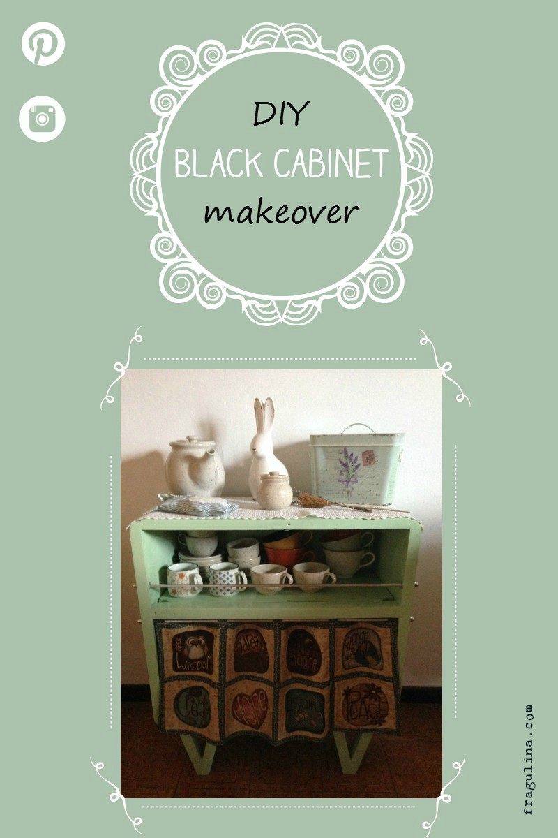 Black cabinet makeover by fragulina