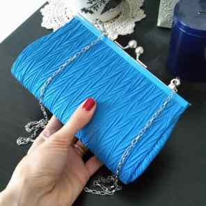 My new blue clutch